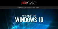 UPDATE | Red Giant and Windows 10